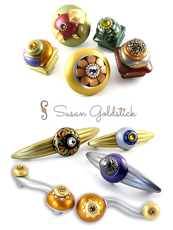 colorful cabinet jewelry by susan goldstick